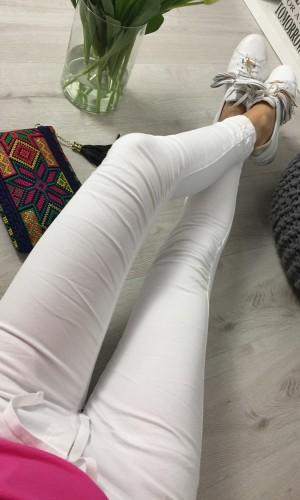SPODNIE BAGGY WHITE