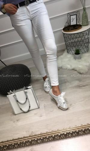 Spodnie classic white