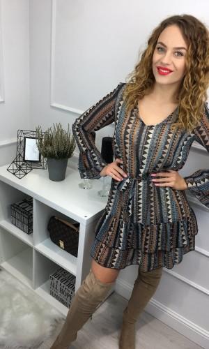 Szyfonowa sukienka z falbanami / Lorena