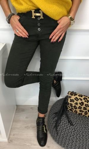 Spodnie baggy w kolorze khaki Murano