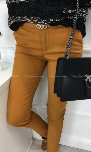 Camelowe eleganckie spodnie Classic