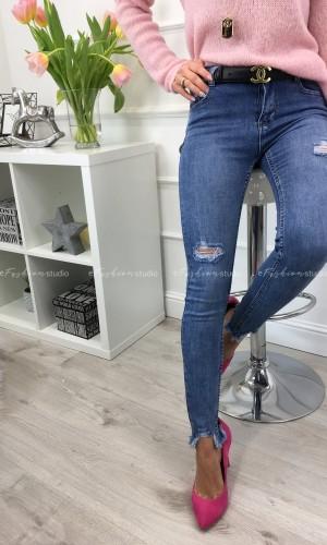 Spodnie jeans z przetarciami CADDY BLUE