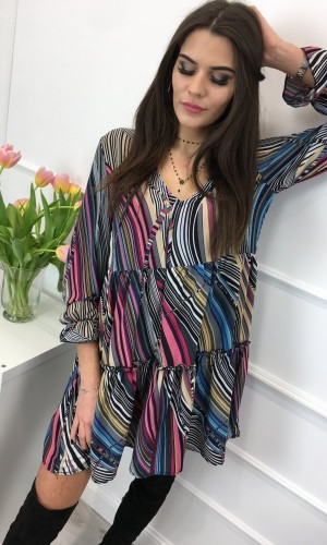 Sukienka babydoll LENA MULTI