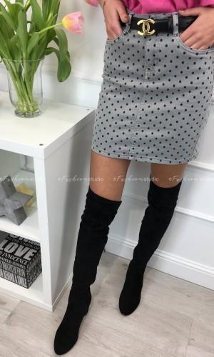Spódniczka jeansowa w kropki Totie Grey