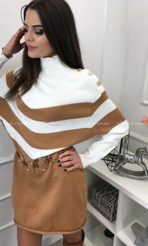 Sukienka swetrowa w romby Liza Carmel