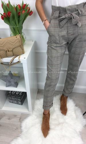 Spodnie w kratkę Lady