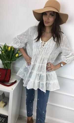 Tunika haftowana wiązany dekolt Kimmy White