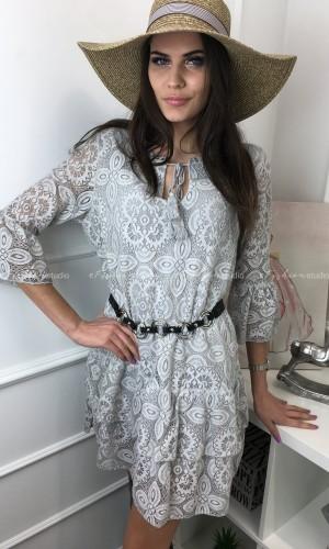 Sukienka koronkowa z chwostami Meggie Grey