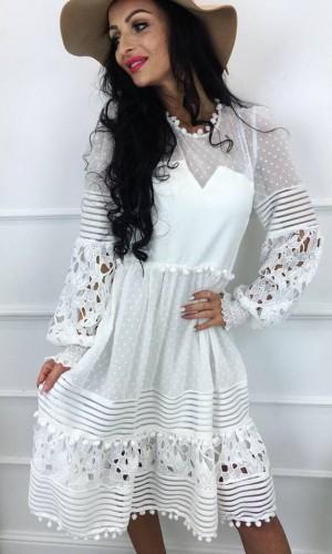 Sukienka gipiurowa Laura White
