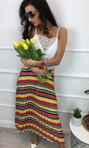 Spódnica plisowana Multicolors Yellow