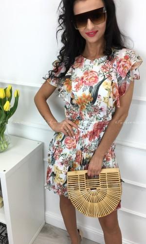 Sukienka z plisowaniem Flowers