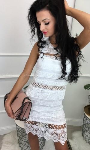 Sukienka gipiurowa Loren White