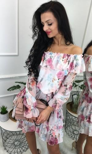 Sukienka hiszpanka Print Flowers