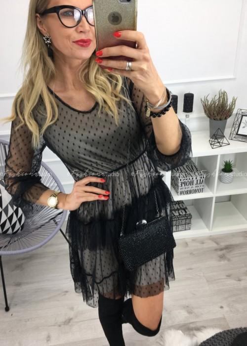 Sukienka koronkowa w kropki Lisa