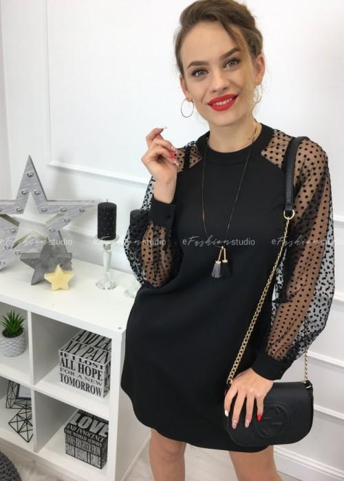 Sukienka z siateczką w groszki / Emily