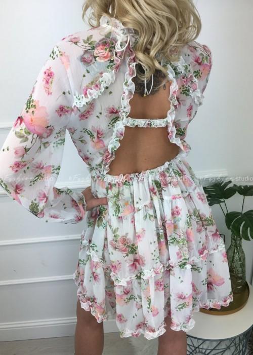 Sukienka z odkrytymi plecami Emma Flowers