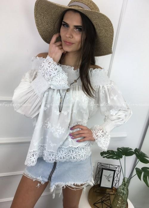 Bluzka haftowana hiszpanka Cindy White