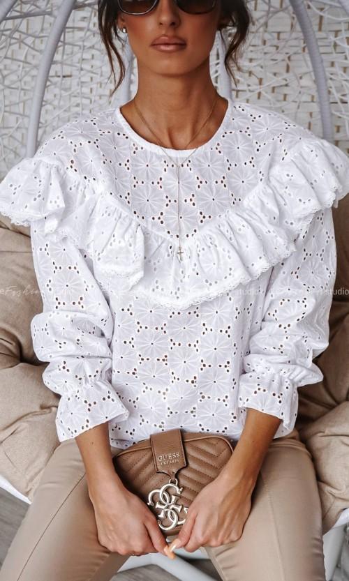 Bluzka ABI Ażur 1 white