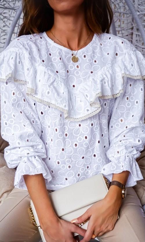 Bluzka ABI Ażur 2 white