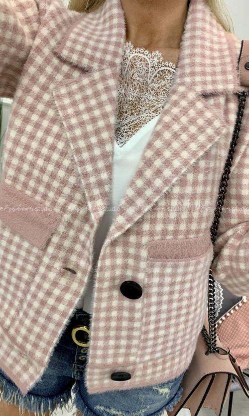 Żakiet Alpaka SOFIA Pink