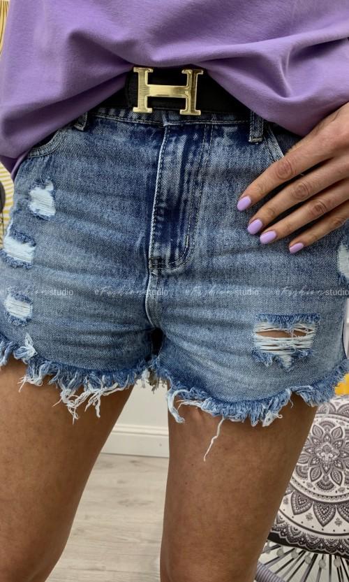 Spodenki TULUZO Ripped Jeans Blue