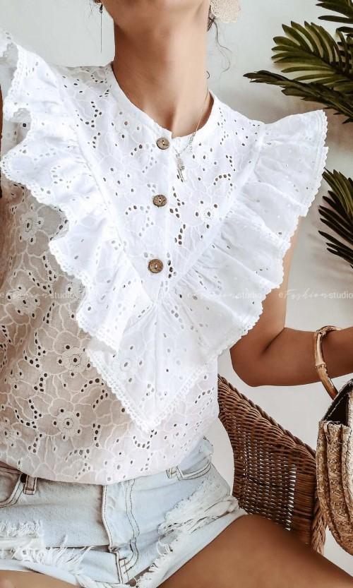 Bluzka Fini Ażur White