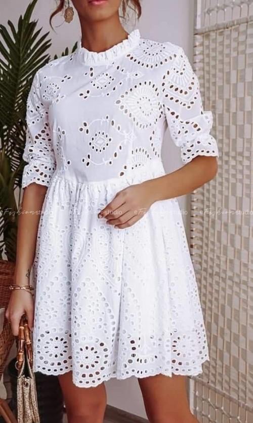 Sukienka MAYA Ażur White