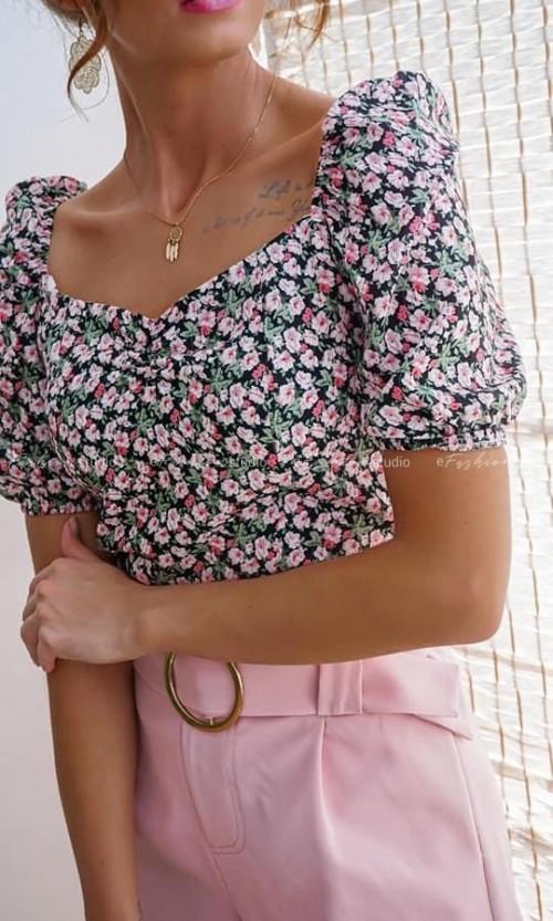 Bluzka GRETA Flower Pink