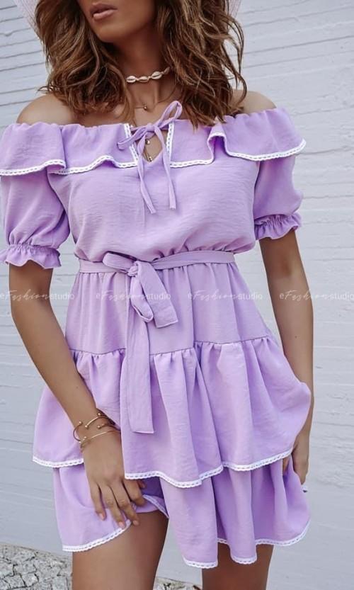Sukienka NIKOLINA hiszpanka Lila