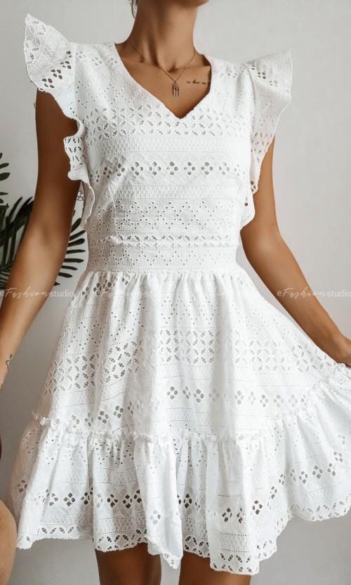 Sukienka AZZARO Ażur White