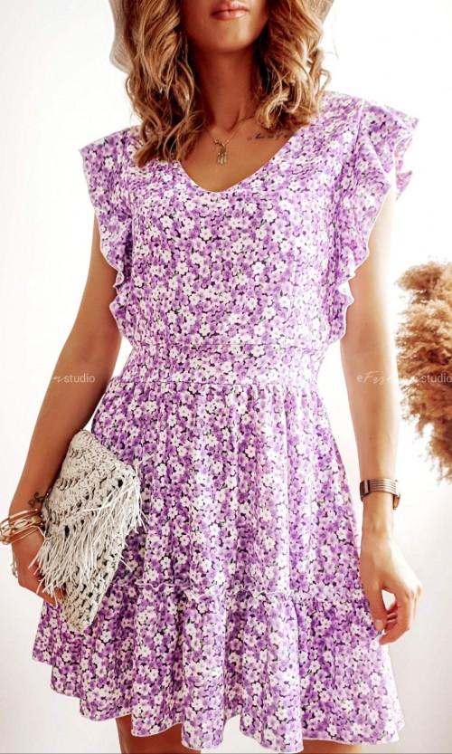 Sukienka AZZARO Flower Fiolet