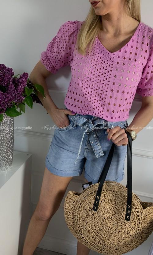 Bluzka JOANNA Ażur Pink