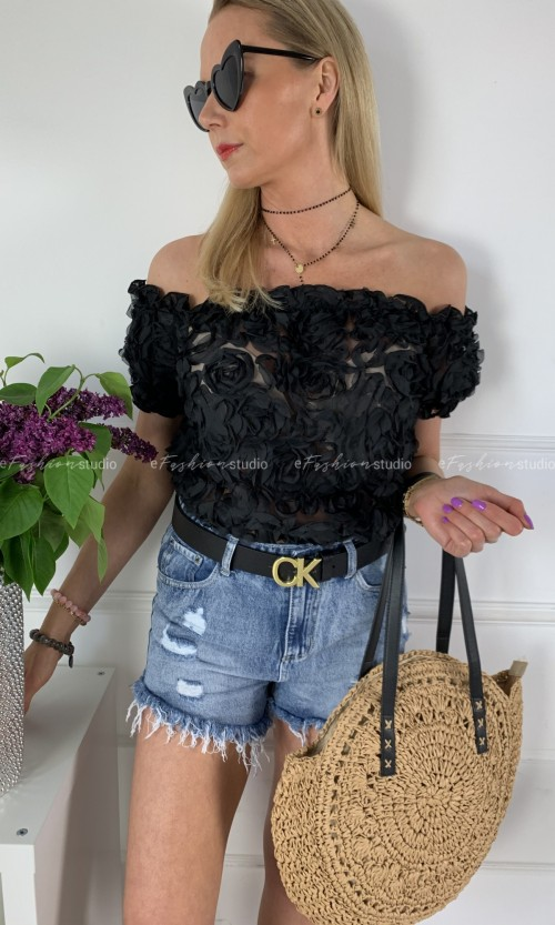 Bluzka ESPANIA Rose Black