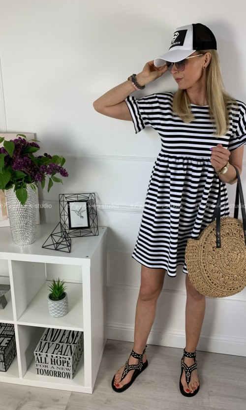 Sukienka ALICIA Stripes Black