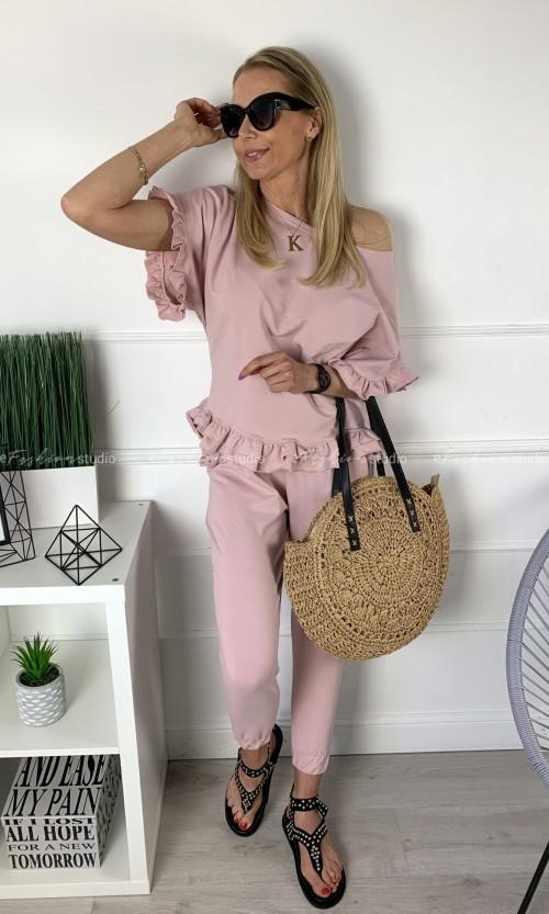 Komplet Dresowy RUFFLES Pink