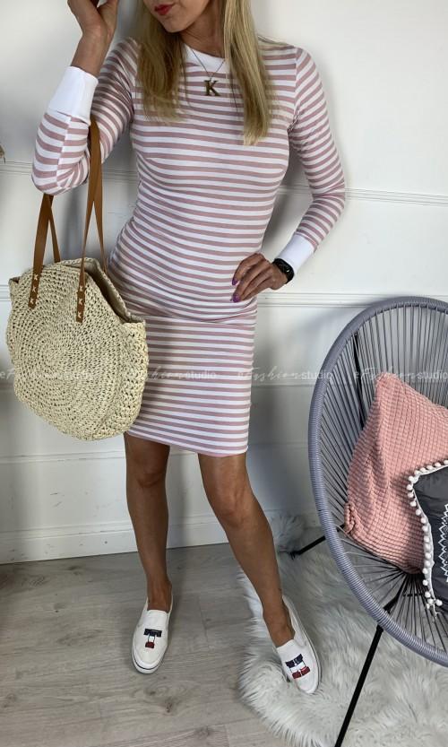 Sukienka NATI Stripes Pink