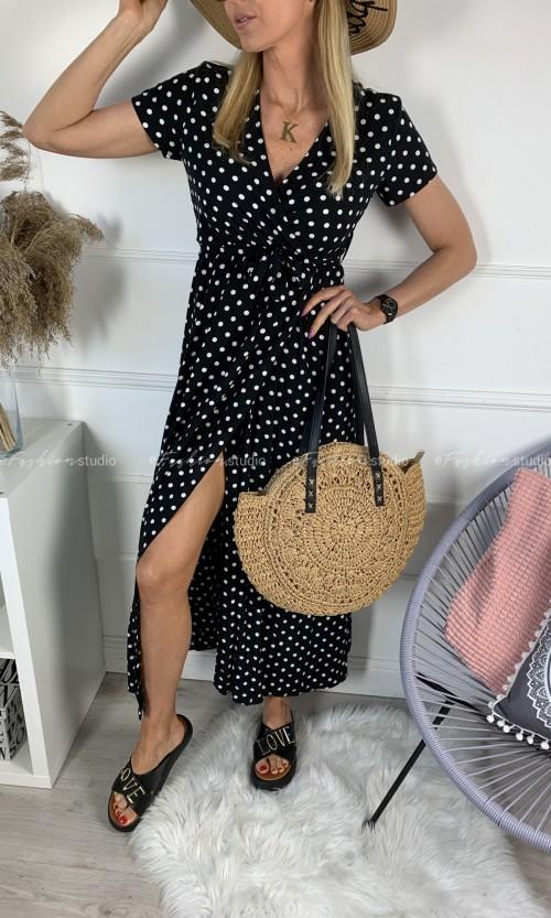 Sukienka ELLEN Maxi Dots Black
