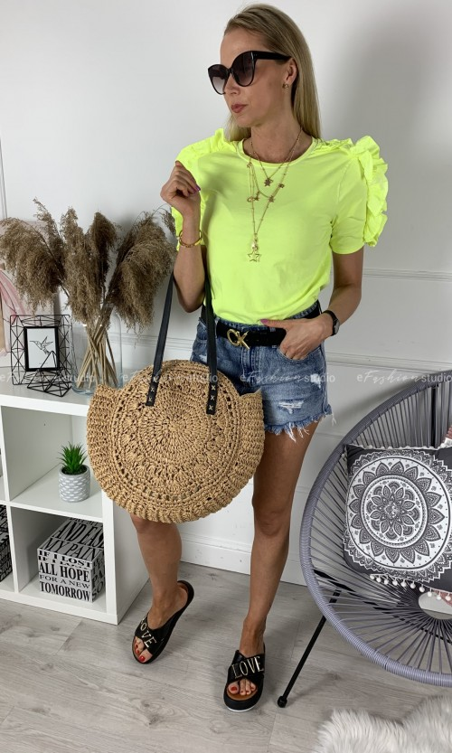 T-shirt RUFFLES Neon Yellow