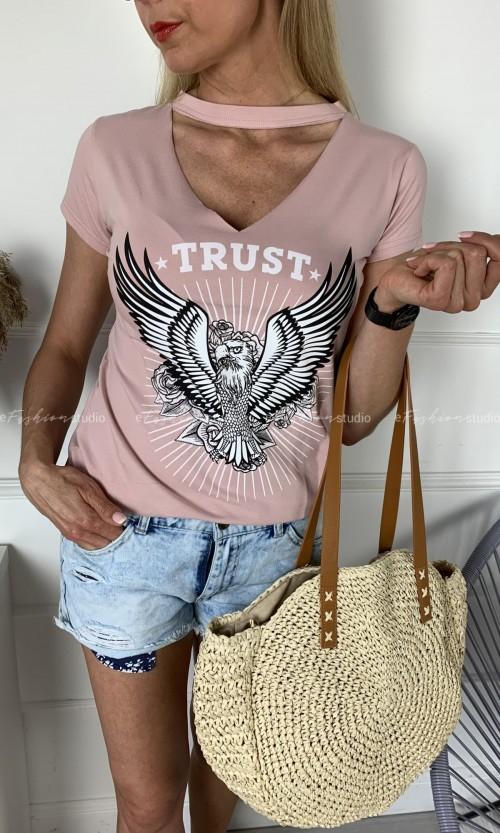 T-shirt INGA Choker Pink