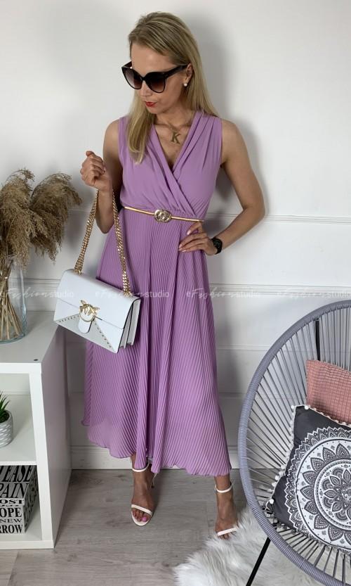 Sukienka MELANIA Maxi Fiolet