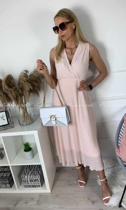 Sukienka FLORENCJA Maxi Light Pink