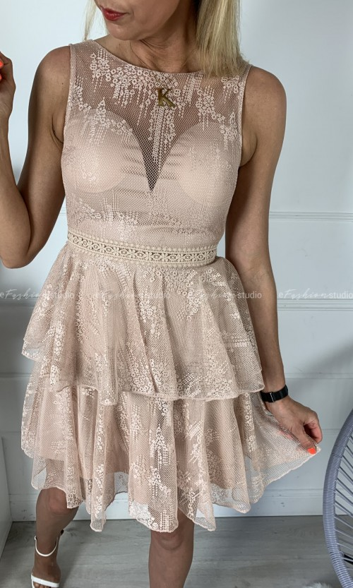 Sukienka CIARA Koronka Nude