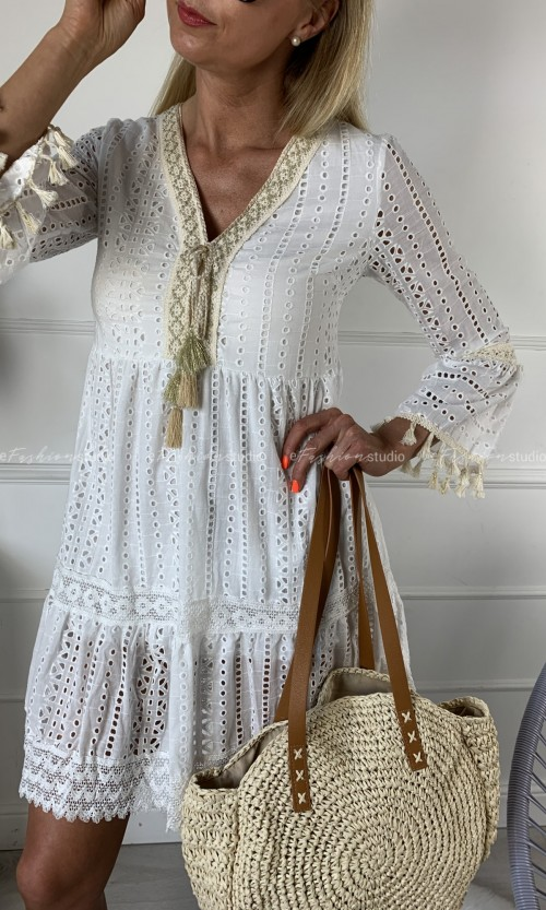 Sukienka ESTERA Boho White