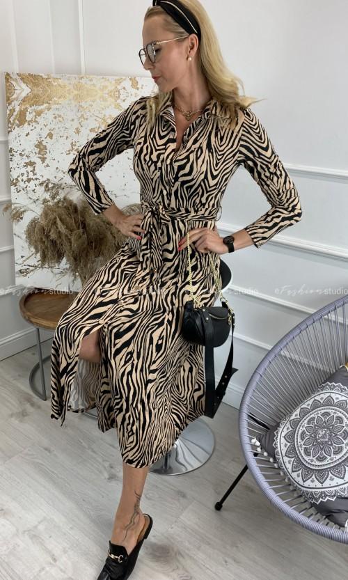 Sukienka Szmizjerka CHICA Zebra