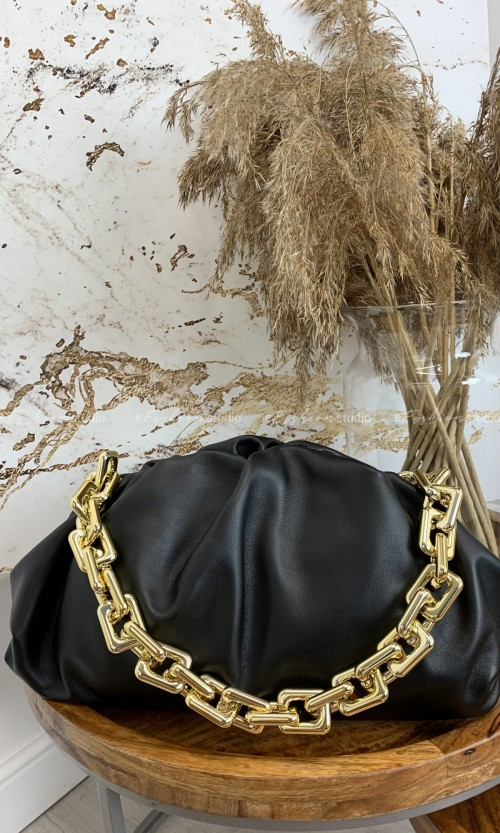 Torebka QUENN CHAIN leather black
