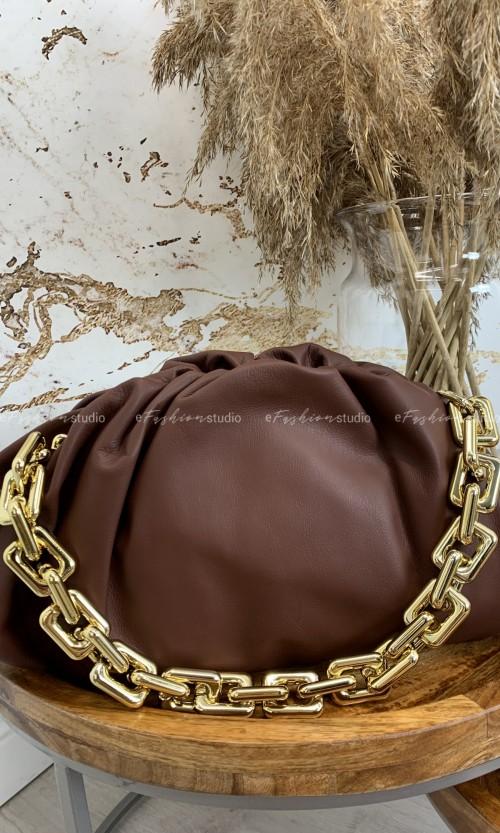 Torebka QUENN CHAIN leather brown