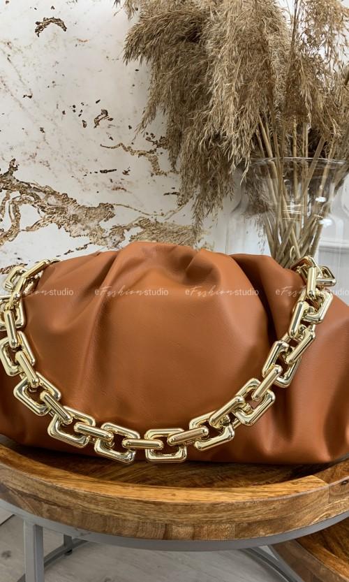 Torebka QUENN CHAIN leather carmel