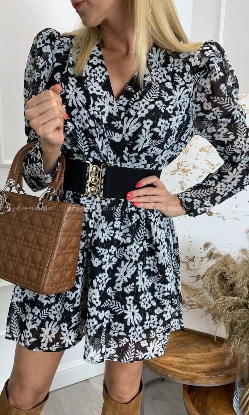 Sukienka bufka CABIRIA Black & White