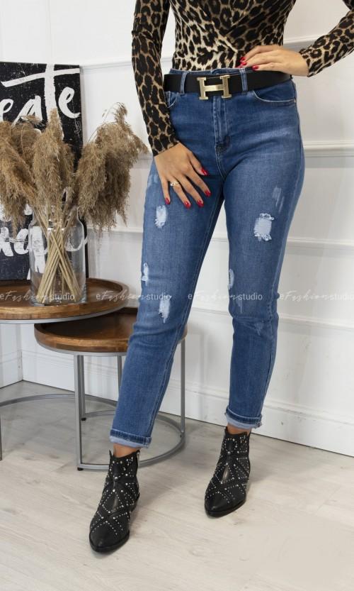 Spodnie Jeansowe MOM FIT Blue