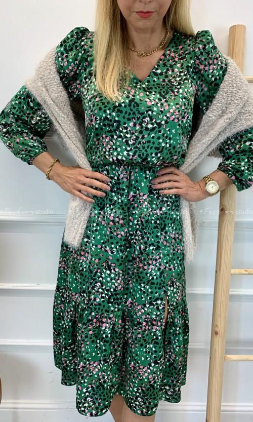 Sukienka BIZUUU Midi Green
